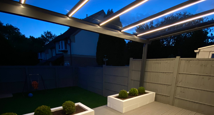 Glass Verandas Corsham With LED Lighting