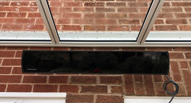 Glass veranda Heating Options